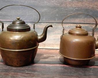 Copper Tea Kettle - Vintage Kettle