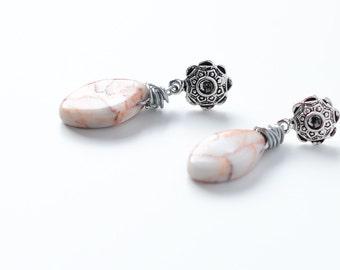Jasper earrings // Nickel and lead free ! //