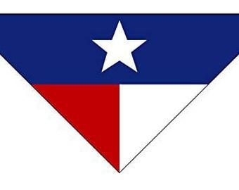 Texas Flag Dog Bandana - Medium to Large Dogs - TX State Flag Dog Bandana - Dog Accessory (MED-LARGE) - 46022