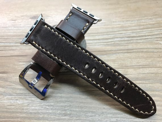 Apple Watch 38mm & 42mm | Apple Watch Strap Series 1, Series 2 | Apple Watch band | Handmade Leather Watch Band | Vintage Brown color