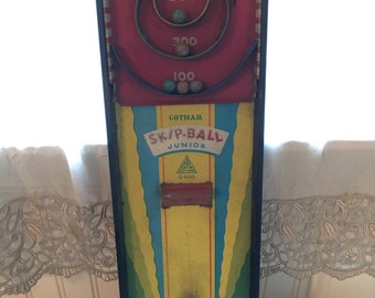 Vintage Tin Game, Gotham Skip Ball, 1940s, Toys And Games
