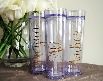 Bridesmaid gift,Skinny Personalized Tumbler,Wedding Party Tumbler,Bridesmaid Tumbler,Wedding Party Tumbler,Custom Tumbler,Personalized Cup
