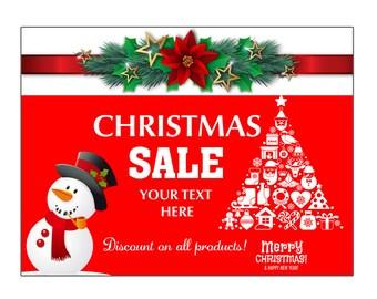 3 x 5ft Christmas sale Vinyl Banner