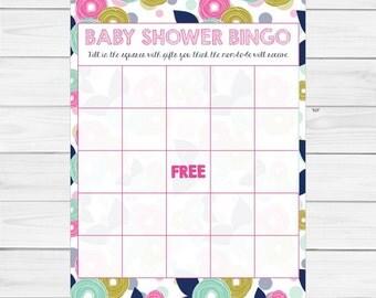 Baby Shower Bingo Mod Floral  DIGITAL DOWNLOAD