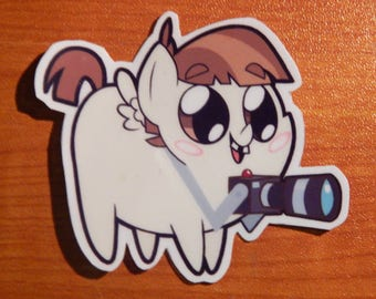 Pony Chubs! Featherweight Sticker