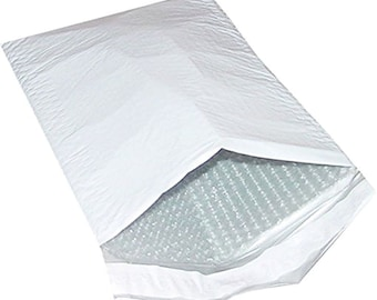 POLY BUBBLE MAILER (5 Mailers) Size: #2  8.5 x 12 Self Sealing Just Peel and Stick Poly Bubble mailer
