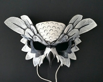 Leather Snowy Owl Mask Leather Owl Mask