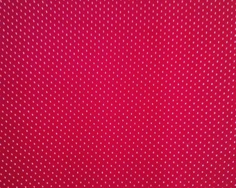 Red with White Polka Dots Fabric Panel 72 x 42
