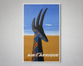 Air Afrique Vintage Travel Poster - Poster Print, Sticker or Canvas Print
