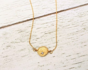 Gold Necklace + Gold Disc Necklace + Sideways Necklace + Coin Necklace + Hammered Disc Necklace + CZ necklace + Delicate Necklace + M3