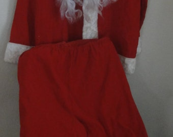 Vintage 1950's  Homemade Corduroy Santa Claus Suit