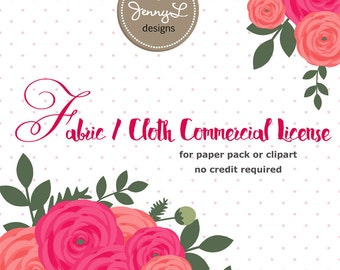 FABRIC / Cloth Commercial License by JennyL Designs Shop