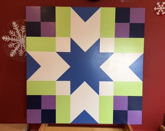 3' x 3' Barn quilt  In gorgeous colors