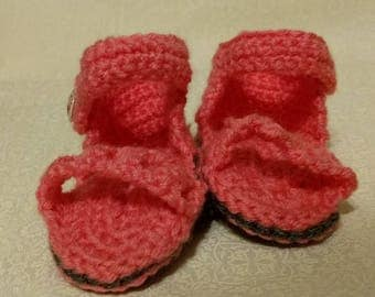 Hand Crocheted Baby Sandals