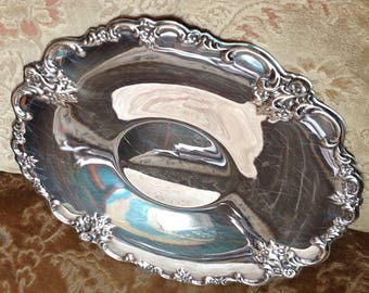 IS Orleans Pattern Silver Plate Sandwich Tray