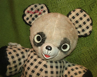 """PERKI PANDA by GUND with Rubber Face Nose and Google Eyes, 13"""" Plush Stuffed """"Gunderful Creation"""" Teddy Bear Toy"""