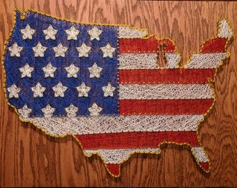 MADE IN USA - American Flag String Art