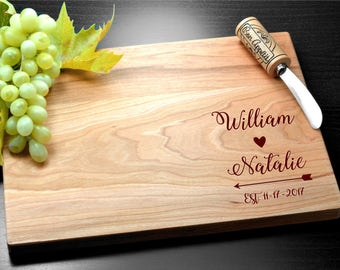 Personalized Cutting Board, Wedding Gift, Monogram Custom, Engagement Gift, Anniversary Gift, Bamboo cutting board, Custom bamboo, Wedding