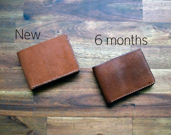 A Slim Kangaroo Leather Wallet With Under Pockets - Cognac Colour