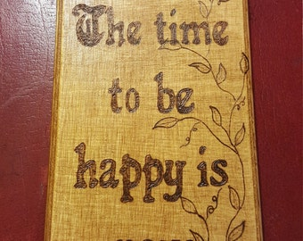 Wooden wall hanging. Positive quote
