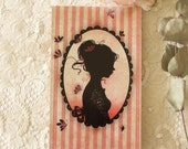 Address book - Address organizer - alphabetic - notebook - Miss Shadow - Tattoo Girl