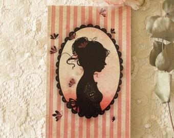 Address book - Address organizer - alphabetic - notebook - Miss Shadow - Tattoo Girl