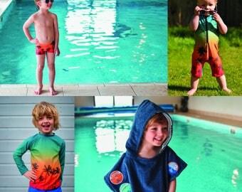 MBJM Swim Super Bundle - 4 pdf sewing patterns (prem./small newborn - Age 12)