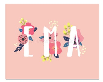 Ema Baby Name Wall Art Ema Baby Name Sign Ema Party Printable Ema Party Decorations Ema Adult Party Decorations Ema Art