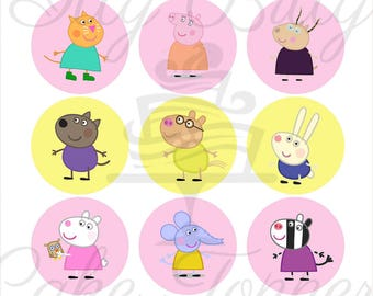 Peppa Pig and friends Edible Cupcake Images / Toppers PRE CUT