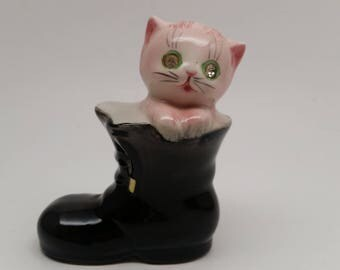 Lefton Kitty Cat in Boots, Orphan Shaker