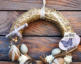 Easter hanging Wicker wreath