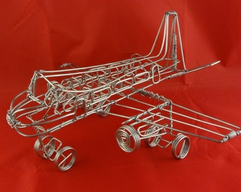 "Wire Aeroplane Sculpture ""Cessna"""