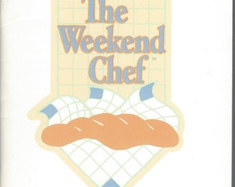 1986 The Weekend Chef, Gold Medal Flour, Vintage Promotional Cookbook Softcover VF Gold Medal Flour Kitchens