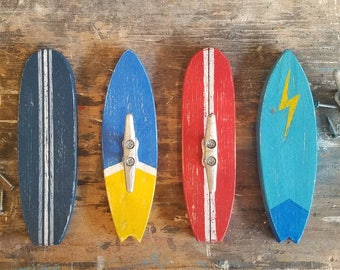 Surfboard Coat Hooks, Surf Hooks, Coat Hook, Rustic Surfboard Coat Hook, Coat Rack, Towel Rack, Surfboard Towel Rack, Surfboard Rack