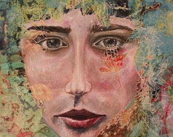 Original Painting on canvas - Portrait in Nature - 54x45cm