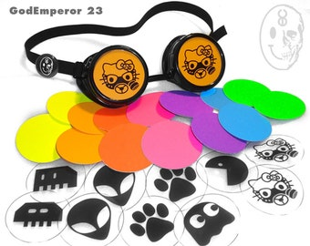 GodEmperor 23 RAVER GOGGLES Cyberdog style Cyber Rave Punk emo Cyberdog Candy Raver