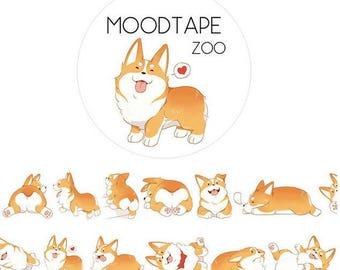 Corgi Washi Tape/Deco Masking Tape/Planner Sticker/ Deco tape  TZ1749