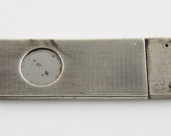 Antique solid silver mini cigar cutter