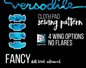 Wings ONLY Add-On | Fancy | Cloth Pad Sewing Patterns | 4 wing options | Interchangeable
