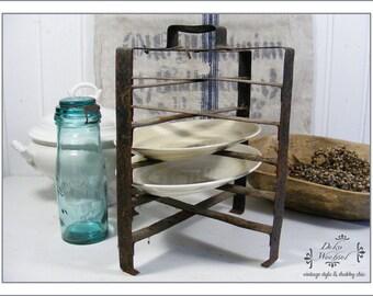 """Antique tarte holder """"Porte Tarte"""" / plate holder from France"""