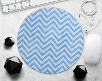MousePad Blue Stripes Mouse Pad Stylish Gift Geometric Mouse Mat Rubber MousePad Ornament Geometry MousePad Style MouseMat Office Supplies