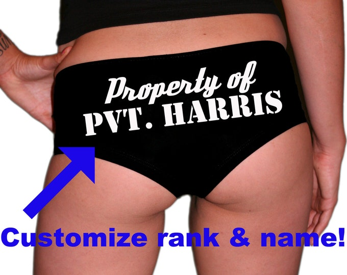 Custom Rank/Name Property Of Underwear