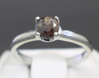 0.61cts 5.03mm Very Rare Chocolate Brown Diamond Engagement Ring Size 6