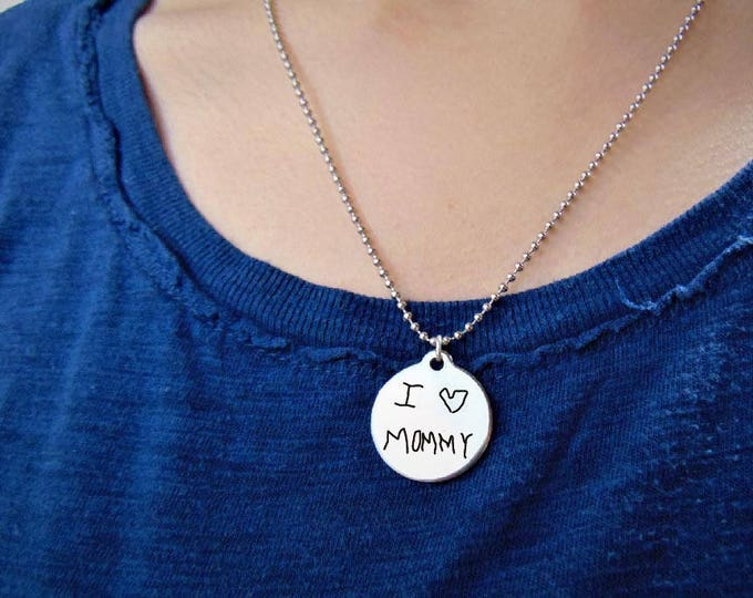 """Custom Artwork Your Creation on Stainless Steel Round Pendant Necklace (7/8"""") Custom Design Your Own Necklace Perfect gift Mother's day"""