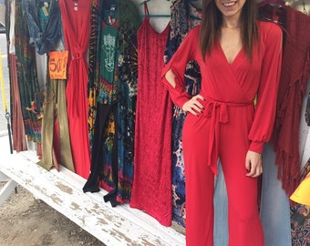 The Woman Power Jumpsuit with slit sleeve!