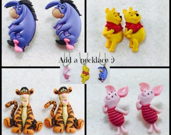 Winnie The Pooh Earrings, Winnie the Pooh Jewelry, Cute Disney Earrings
