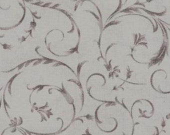 "Beautiful Backing Gray Swirl 108"" Wide Backing from Maywood by the yard"
