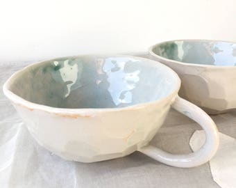 Turquoise Washed Coffee Cup-Large