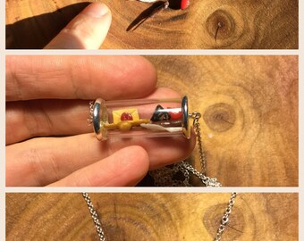Miniture necklace inspired by Harry Potter