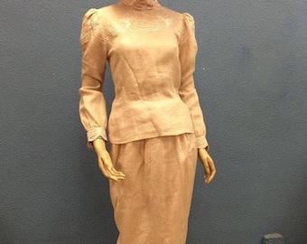 Linen 80's set (top & skirt)